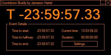 A screenshot of the Countdown Buddy program