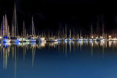 Reflections at a marina